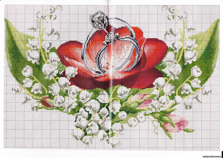 Схема вышивки крестиком рушника фото 672