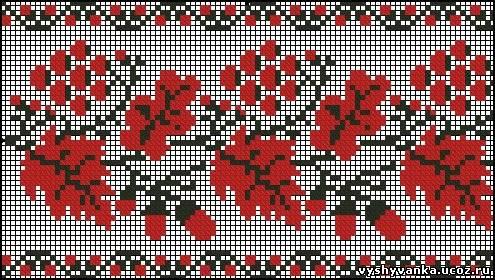 Схема вишивки рушника