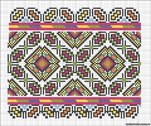 Геометричний орнамент - Схеми - Рушники - Галерея схем - Спілкування за  вишивкою b6d40fdcfc25b