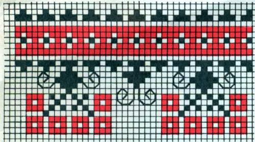 червоно-чорний - Ланцюжкові орнаменти (смужки) - Схеми хрестиком - Галерея  схем - Спілкування за вишивкою 2711c57a5cb43