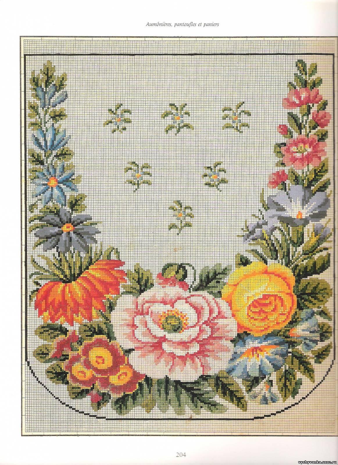 Вышивка крестиком на мебели 25